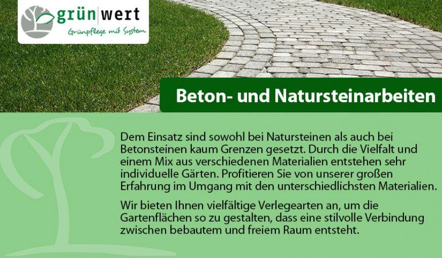 Beton- und Natursteinarbeiten