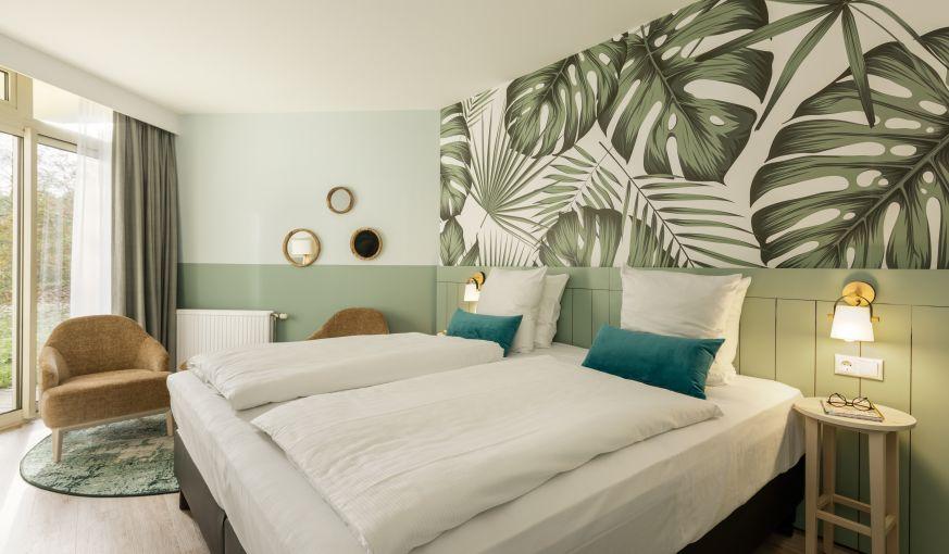 Ruhe und Entschleunigung im Hotelzimmer