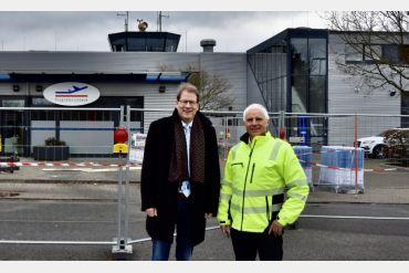 Gero Storjohann beim Flughafen Lübeck